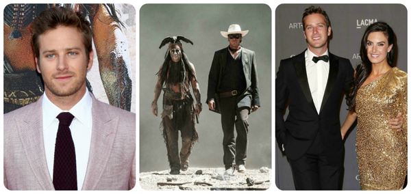 The Lone Ranger actor Armie Hammer