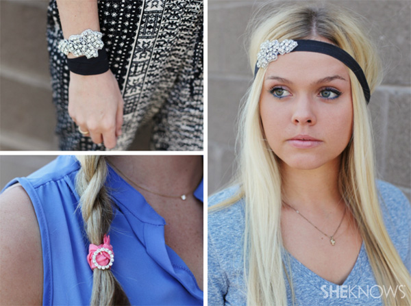 Ponytail holders that you can use as bracelets | SheKnows.com