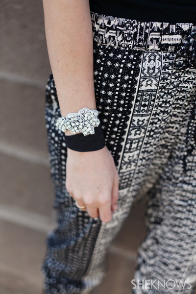 High-style headbands by Jolie worn on wrist