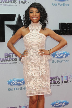 Brandy at the BET Awards