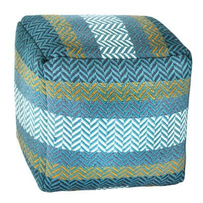 Threshold woven pouf
