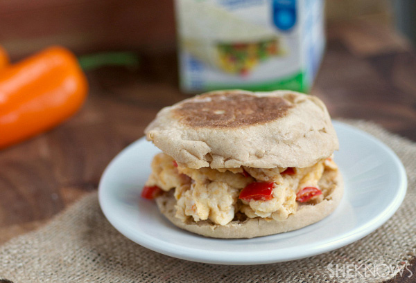 Spicy mixed vegetable egg white sandwiches | SheKnows.com