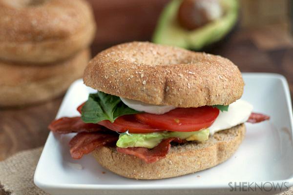 Caprese bacon and avocado bagels | SheKnows.com