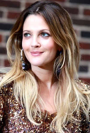 Drew Barrymore's drastic ombre hair