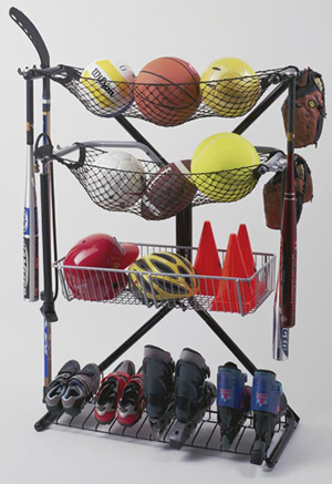 sports equipment rack