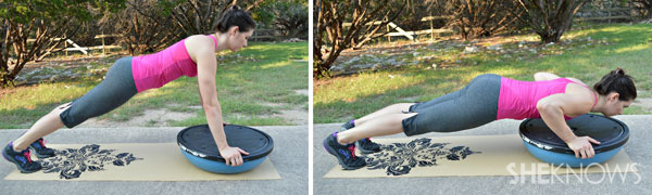 BOSU ball pushup | SheKnows.com
