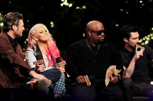 Blake Shelton, Christina Aguilera, CeeLo Green, and Adam Levine on The Voice