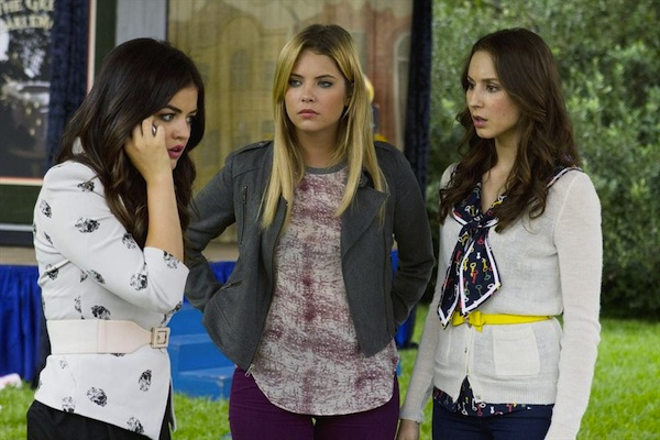 Hanna, Spencer and Aria in Pretty Little Liars