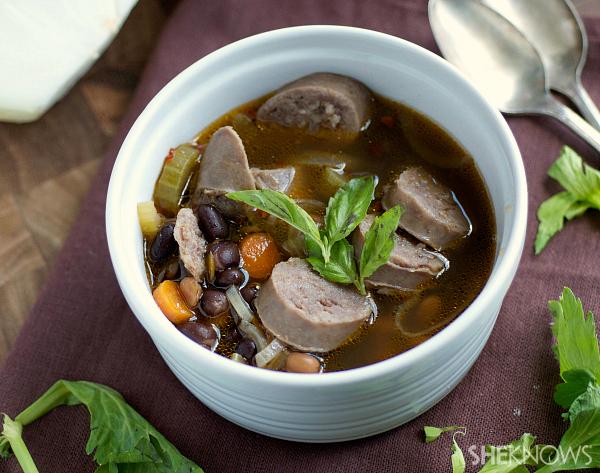 Bratwurst and chicken stew