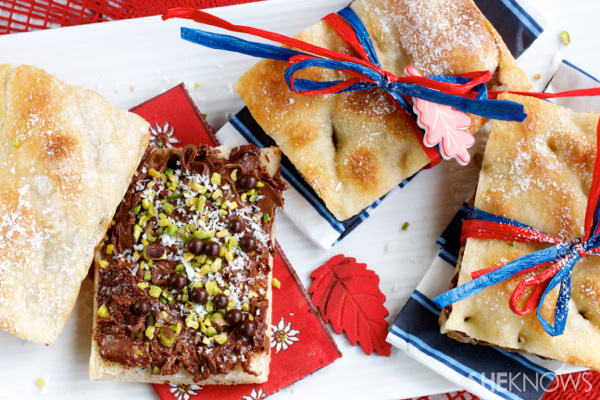 Kids, pizza sandwiches for snacks are here!