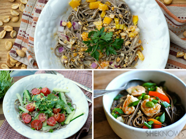 Soba noodles, three ways