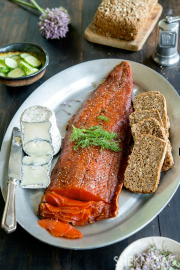 Cured salmon is easy to make at home