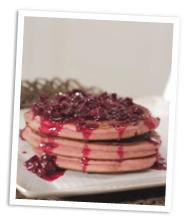 Pretty pink pancakes