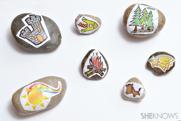 Storytelling rock crafts