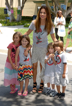 Brooke Burke and kids