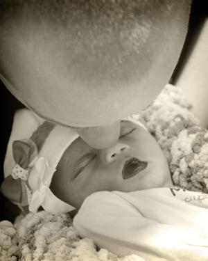 Peyton and Daddy - Stillborn photography