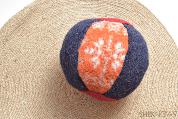 Felted sweater ball