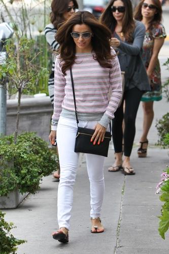 Eva Longoria white skinny jeans