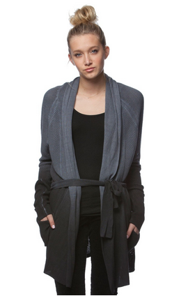Gypsy 05 Mesh Shawl Collar Cardigan