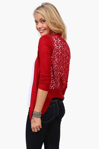 Necessary Clothing Daisy Back Cardigan