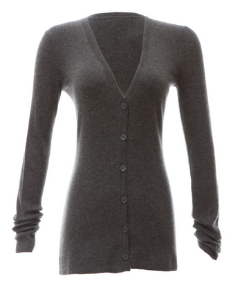 Scoop 16-Guage Ribbed Cardigan