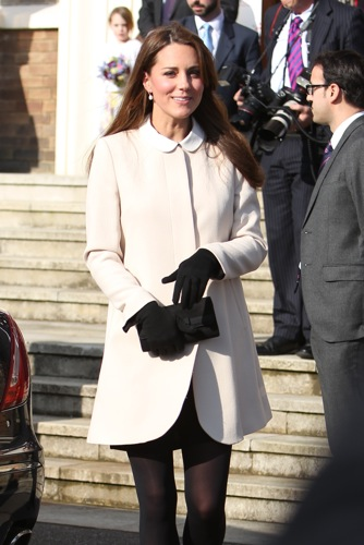 Kate Middleton cream coat