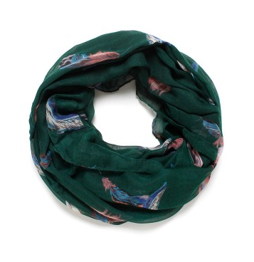 David and Young Bold Feathers Scarf