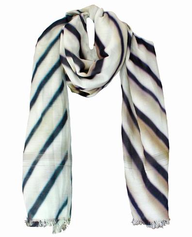 Leigh & Luca Warp Stripe Silk Scarf