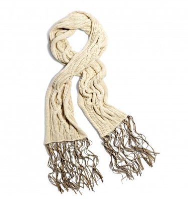 Monika Chiang Cable Knit Scarf