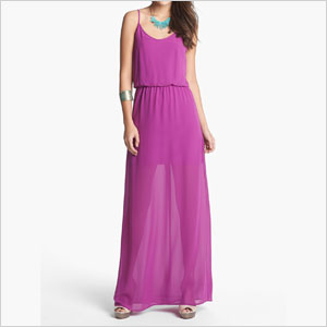 Bar Back maxi dress