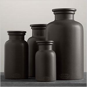 Stoneware countertop bottles
