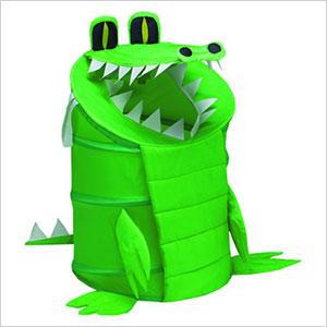 Alligator pop-up hamper