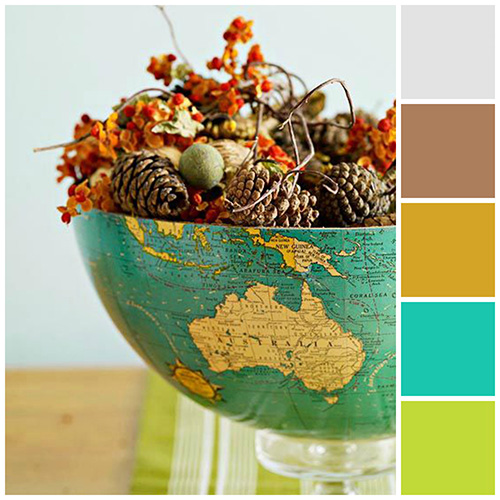 Fall Color schemes Bright and Natural