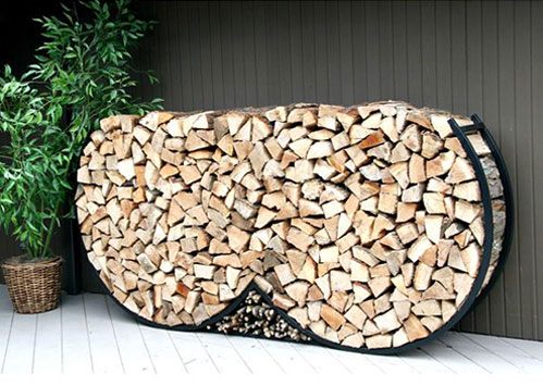 Double round firewood rack