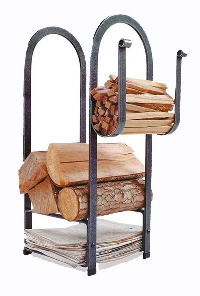 Enclume fire center firewood rack