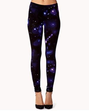 Celestial print leggings