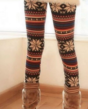 Autumn and winter retro style new arrival deer printing slim leggings