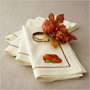 Harvest pumpkin napkin ring