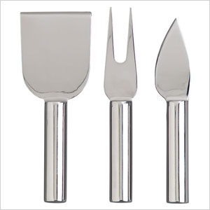 Set of 3 stainless cheese cutters
