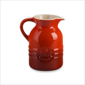 Stoneware syrup jar