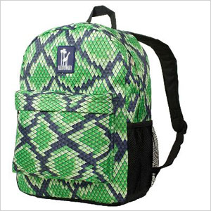 Snakeskin pattern backpack