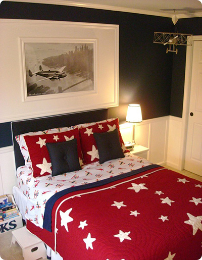 planes inspired boy bedrooms