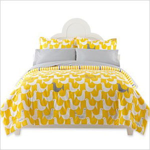 JC Penny yellow and grey Jonathan Adler bedset