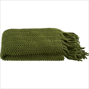 Crate & Barrel Marley Green Throw