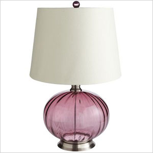 Pier 1 purple lamp