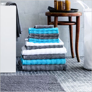 textured thick cotton terry towels