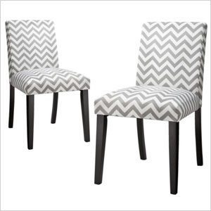 chevron printed dining chairs