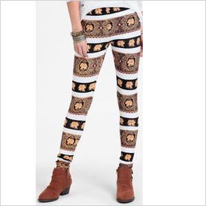 Elephant print leggings