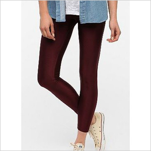High shine leggings in plum