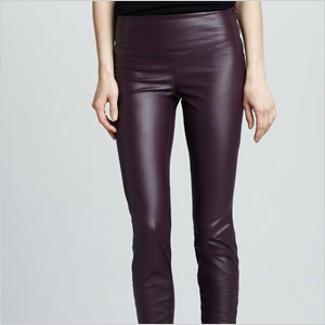 Sleek plum leggings